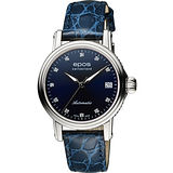 EPOS 都會雅緻時尚真鑽機械女錶-藍 4390.152.20.86.16FB