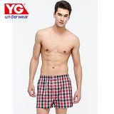 YG色織五片式平口褲(M~XL)
