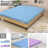 LooCa美國Microban釋壓12cm記憶床墊-單人
