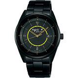 agnes b. 法國光輝太陽能腕錶(IP黑/38mm)BUA003P1