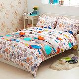Aileen-快樂之家-柔絲絨雙人三件式床包組