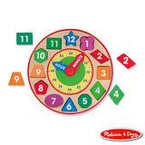 美國瑪莉莎 Melissa & Doug 形狀積木時鐘