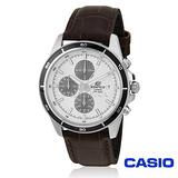 CASIO EDIFICE系列商務休閒皮帶腕錶 EFR-526L-7A