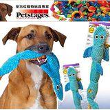 美國Petstages》無填充系列嗶波鯊魚軟趴趴