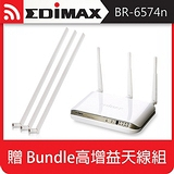 EDIMAX訊舟 BR-6574n 無線網路寬頻分享器【加贈Bundle高增益天線組】