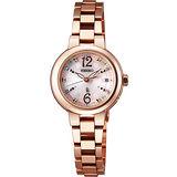 SEIKO LUKIA 甜蜜時光璀璨電波腕錶-粉x玫塊金 1B22-0BM0P