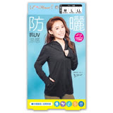 【E‧Heart】高透氣抗UV防曬外套(涼感顯瘦款-黑)