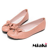 (現貨+預購) 【Miaki】MIT 都會淑女蝴蝶結平底包鞋娃娃鞋 (粉色)