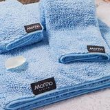 MORINO摩力諾 超細纖維毛巾(粉藍色) 37*75CM