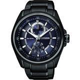 CITIZEN Eco-Drive METAL 專屬的你時尚腕錶-藍xIP黑 BU3005-51L