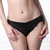 【LADY】深線魅力系列 機能調整型 中低腰三角褲(魔幻黑)