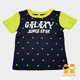 【LOVEDO艾唯多童裝】銀河之星 接袖式短袖T恤 (深藍)