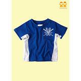 【LOVEDO-艾唯多童裝】運動潮流 藍白短袖T恤