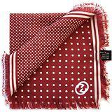 GUCCI 紅色圓點時尚造型絲巾【義大利純手工精製】
