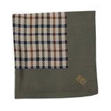 DAKS 經典正格紋絲質大領巾-墨綠色