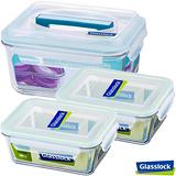 Glasslock強化玻璃微波保鮮盒 - 開心出遊3件組