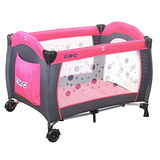 EMC 嬰幼兒安全遊戲床(幸福紅)+尿布台