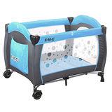EMC 嬰幼兒安全遊戲床(平安藍)+尿布台