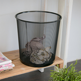【ikloo】寬口密網垃圾桶/紙簍桶/收納桶/傘桶