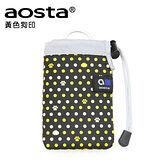 AOSTA CHOUCHOU 繽紛手機袋(黃色狗印)