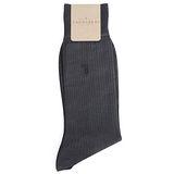 TRUSSARDI 薄型純棉紳士襪-深灰色