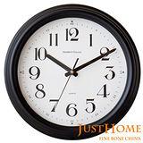【Just Home】泰勒12吋超靜音復古壁鐘(台灣製造)