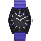 adidas Originals Santiago 同心圓時尚腕錶-黑x紫 ADH9061