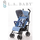 【嬰兒推車L.A. Baby 美國加州貝比】時尚輕便嬰兒手推車(藍色)