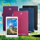 ACER Iconia Tab 7 / A1-713 支架磁扣荔枝紋 書本式保護套 皮套