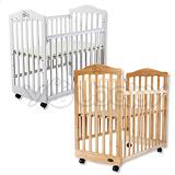 L.A. Baby 加州貝比蒙特維爾嬰兒床 -原木色/白色