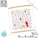 【クロワッサン科羅沙】日本毛巾~加藤真治童話故事系列~小紅帽百花帕方巾 30*30CM