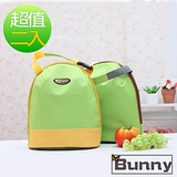 Bunny 韓版攜帶式手提加厚午餐袋購物袋便當袋保溫袋(二入)