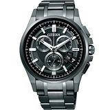 CITIZEN Eco-Drvie 掌握全球光動5局電波腕錶(IP黑/44mm) BY0094-87E