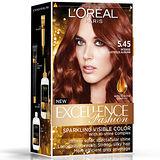 巴黎萊雅優媚霜時尚魅力-護髮染髮霜-5.45濃烈亮澤赤褐色