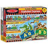 美國瑪莉莎 Melissa & Doug 大型地板拼圖 - 可愛字母小火車 27 片
