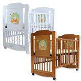 L.A. Baby 加州貝比布魯克林三階段嬰兒成長大床(附成長床側板/床道)