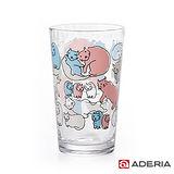 【ADERIA】日本進口Instyle貓咪玻璃杯225ml(紅藍)