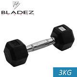 【Bladez】六角包膠啞鈴-3KG