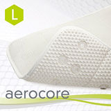 【MICRODRY時尚地墊】aerocore 3D舒適浴缸墊-珍珠白/L