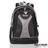 【AOKANA奧卡納】休閒電腦後背包(灰/黑-68-045)