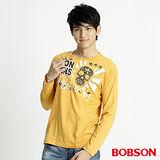 BOBSON 男款髏骷印圖長袖上衣(黃32026-30)