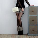 【S.Girl】韓風千鳥紋毛呢短褲-深咖啡