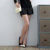 【S.Girl】韓風拉鍊抓皺款造型短褲-深灰