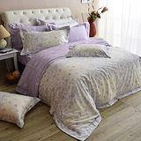 MONTAGUT-夢幻花園-精梳棉-加大四件式薄被套床包組