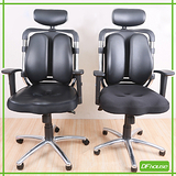 夏卓3D高級雙背電腦椅(3D皮面、網布坐墊)