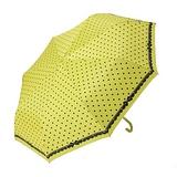 飛蘭蔻水玉蝴蝶結銀膠布-55輕量彎頭傘-黃