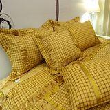《SHINEE》 典雅金鑽 高級加大雙人斜紋織精梳棉十件式兩用被絲緞床罩組(6尺)