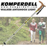 【KOMPERDELL奧地利】WALKER ANTISHOCK LIGHT 7075-T6航太鋁合金T型把避震登山杖(僅235g) 1762420-10