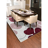 【范登伯格】赫曼-繽紛紫花朵紛飛輕薄進口薄層膠底絲毯200x290cm