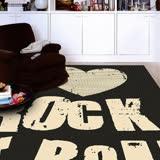 【范登伯格】爵士-ROCK超炫亮眼進口不起毛屑類亞麻大尺寸地毯-160X230